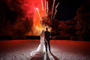 Lebendige Hochzeit Schlosshotel Feuerwerk